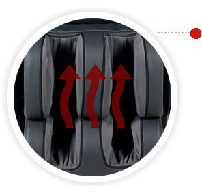 Массажное кресло обогрев ног